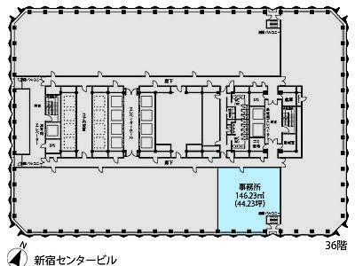 新宿センタービル 36S-2-2間取りのサムネイル画像
