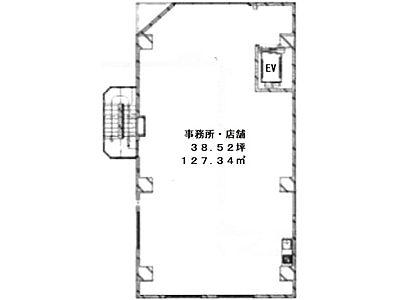 東陽ビル 2階(店舗可)間取りのサムネイル画像