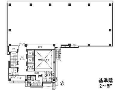 渋谷桜丘スクエア 2階間取りのサムネイル画像