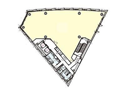 明産霞が関ビルディング 2階(店舗可)間取りのサムネイル画像