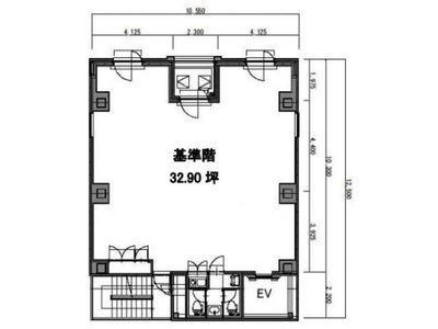 八丁堀鈴らん通りビル 6階(店舗可)間取りのサムネイル画像