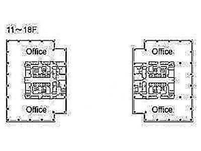 テレコムセンタービル 西棟13階間取りのサムネイル画像