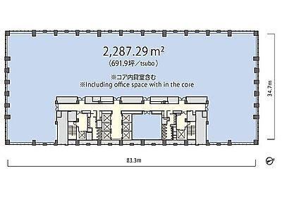 丸の内トラストタワー本館 3階間取りのサムネイル画像