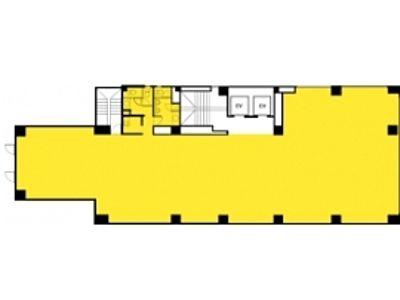 雷電ビル(旧:クマヒラ第二ビル) 3階間取りのサムネイル画像