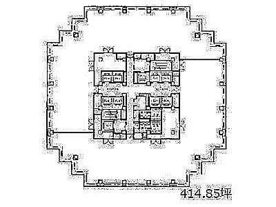 青海フロンティアビル 16階間取りのサムネイル画像