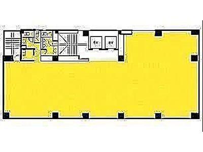 雷電ビル(旧:クマヒラ第二ビル) 9階間取りのサムネイル画像