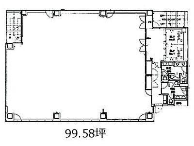 神田ビジネスキューブ 2階間取りのサムネイル画像