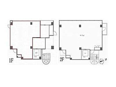 1階~2階(店舗限定)の間取り画像