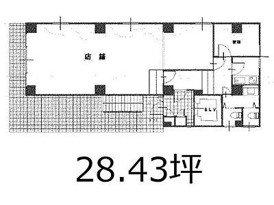 アポロ池袋 1階(店舗可)間取りのサムネイル画像