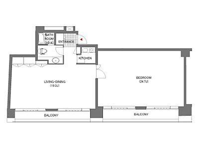 六本木イグノポール 7階702(SOHO)間取りのサムネイル画像