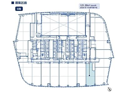 虎ノ門ヒルズ森タワー 6階間取りのサムネイル画像