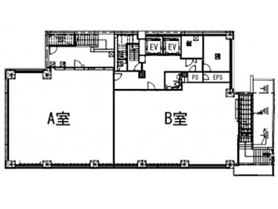 (仮称)神南一丁目計画 地下1階(店舗可)間取りのサムネイル画像