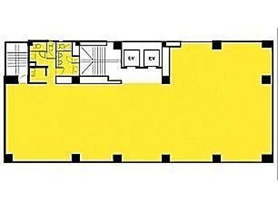 雷電ビル(旧:クマヒラ第二ビル) 6階間取りのサムネイル画像