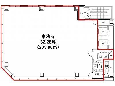 秋葉原OSビル 3階間取りのサムネイル画像