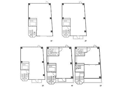 1階~5階(一棟貸・店舗限定)の間取り画像