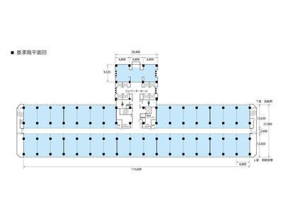 基準階1区画(約26~27坪)の間取り画像