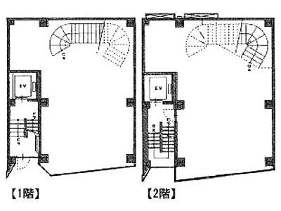 ステージ駿河台 1階~2階(店舗可)間取りのサムネイル画像