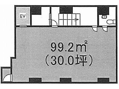 Y'sクレストビル 地下1階(店舗限定)間取りのサムネイル画像