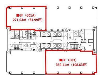 紀尾井町ビル 6階601A間取りのサムネイル画像