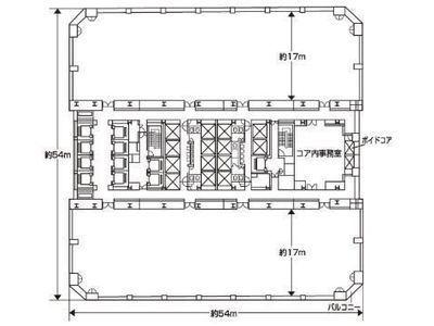 晴海アイランドトリトンスクエアオフィスタワーX棟 17階間取りのサムネイル画像