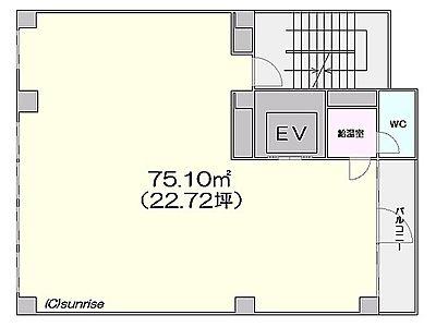 芝公園TCビルディング 7階間取りのサムネイル画像