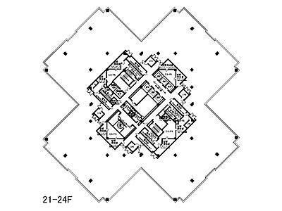 ゲートシティ大崎 W22階間取りのサムネイル画像