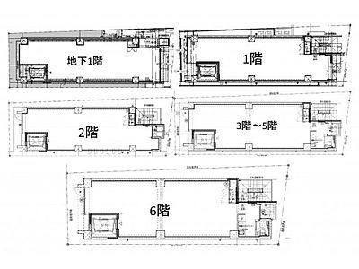 (仮称)ファザーランド渋谷Ⅱ 地下1階~6階(一棟貸・店舗可)間取りのサムネイル画像