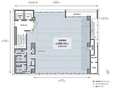 REVZO虎ノ門 6階間取りのサムネイル画像