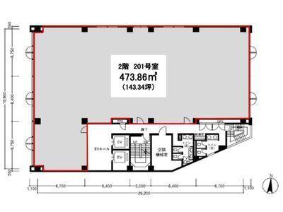 フジワラビルディング 2階間取りのサムネイル画像