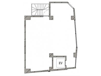 HIBICA神宮前 2階(店舗限定)間取りのサムネイル画像