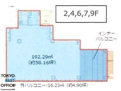 CIRCLES日本橋馬喰町 7階間取りのサムネイル画像