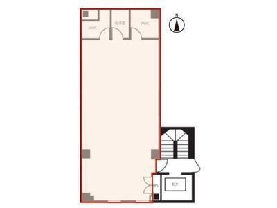 浜松町オークビル(旧:浜松町1丁目PJビル) 3階間取りのサムネイル画像