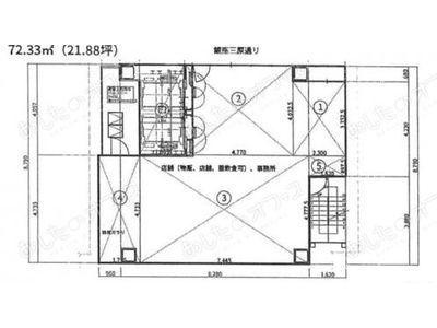 サクラマークス銀座612 11階(店舗限定)間取りのサムネイル画像