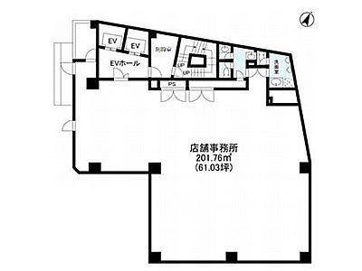 IRONSIDE NAKAMEGURO(旧称:AKビル) 6階(店舗可)間取りのサムネイル画像