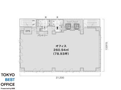 ミレーネ神田PREX(プレックス) 9階間取りのサムネイル画像