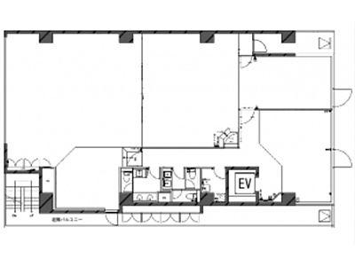 築地リバーフロントビル(旧:塩瀬ビル) 3階+5階~6階間取りのサムネイル画像