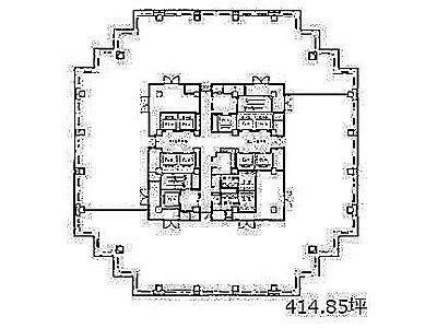 青海フロンティアビル 15階間取りのサムネイル画像
