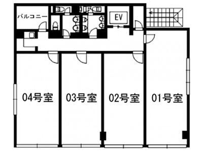 デニス赤坂ビル 6階603+604間取りのサムネイル画像