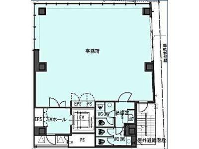 (仮称)南青山5丁目ビル新築計画(南青山5丁目プロジェクト) 9階間取りのサムネイル画像