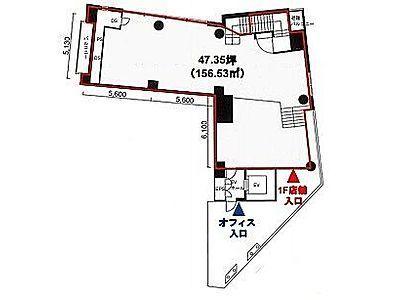 MK麹町ビル 地下1階~1階(店舗限定)間取りのサムネイル画像