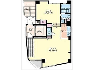 Barbizon28(バルビゾン28) 4階(店舗限定)間取りのサムネイル画像