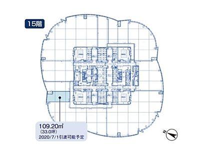 六本木ヒルズ森タワー 15階間取りのサムネイル画像