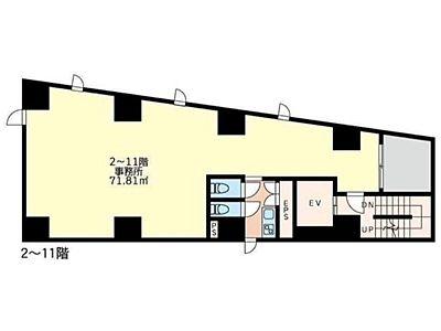 (仮称)芝2丁目ビル 8階間取りのサムネイル画像