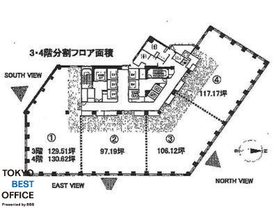 MOMENTO SHIODOME(モメント汐留) 3階③間取りのサムネイル画像