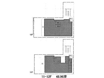 テイテル内神田3丁目ビル(仮称)内神田3丁目PJ 11階~12階(メゾネット・SOHO)間取りのサムネイル画像