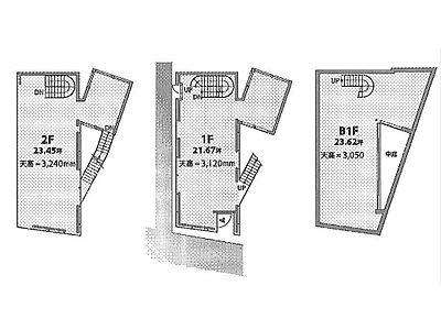 (仮称)南平台プロジェクト 地下1階~2階(一棟貸・店舗限定)間取りのサムネイル画像