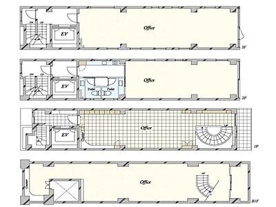 アーツ東京 地下1階~3階(店舗可)間取りのサムネイル画像