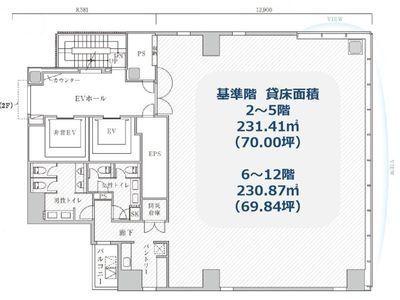 PMO神田万世橋 11階間取りのサムネイル画像