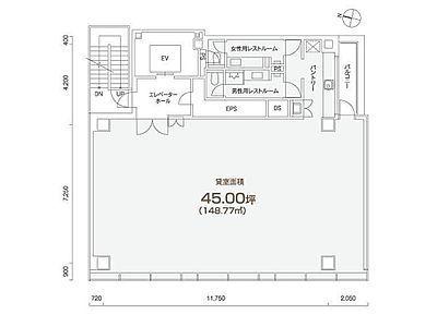 PMO岩本町 2階間取りのサムネイル画像