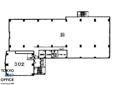 サンポウ池袋ビル 3階302間取りのサムネイル画像